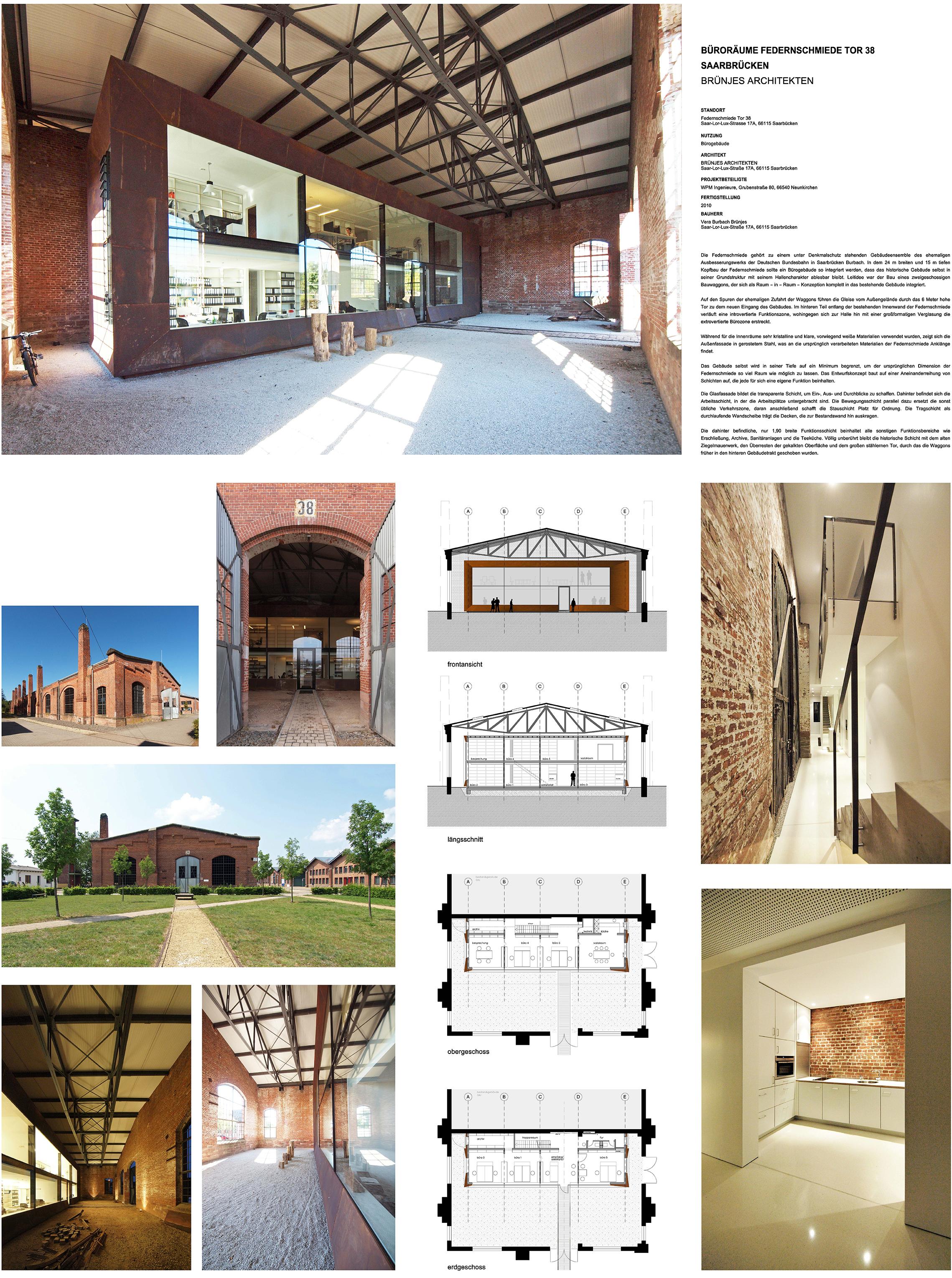 Architekt Saarbrücken einreichungen 2017